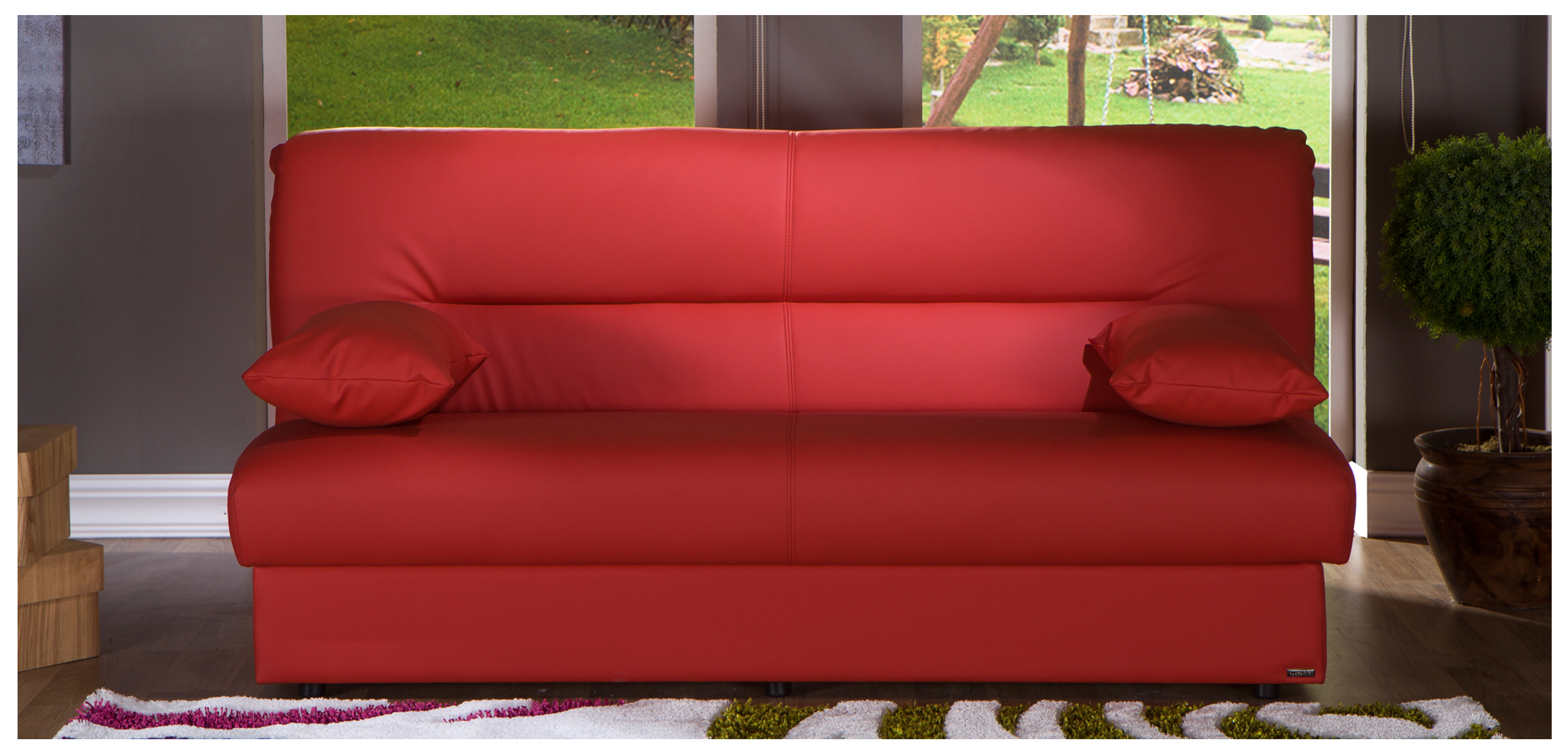 Regata Sofabed, Escudo Red Buy Online at Best Price