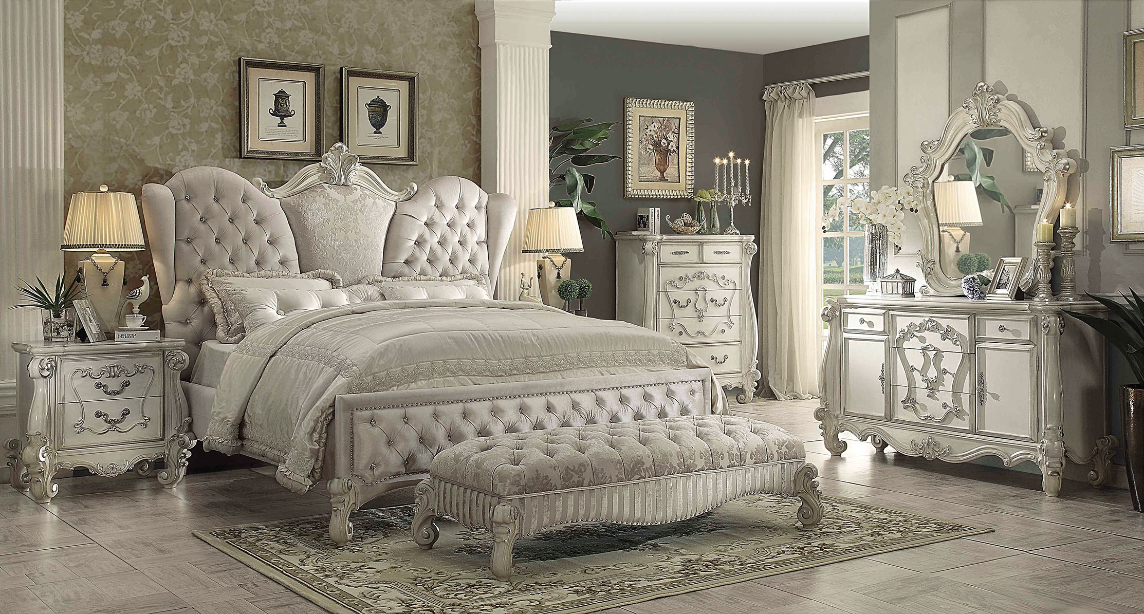 Versailles 3 Piece California King Size Bedroom Set, Composition 3