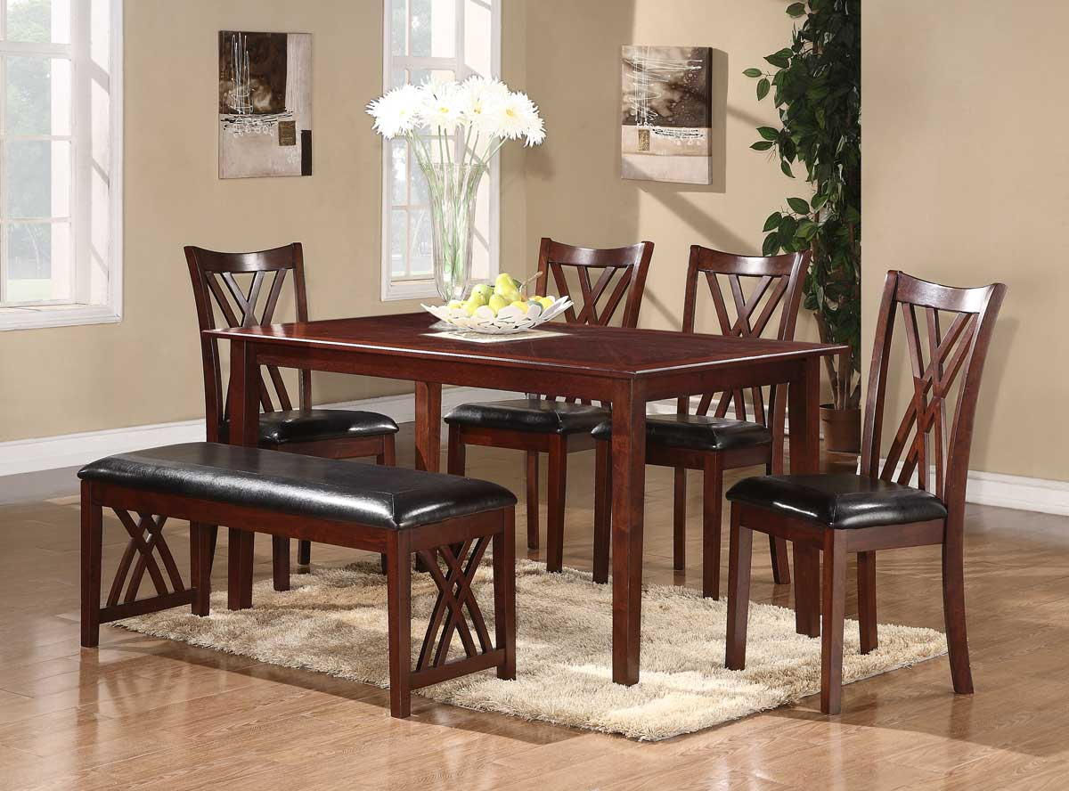 Brooksville 6 Piece Dining Set Table 4 Chairs Bench Buy Online