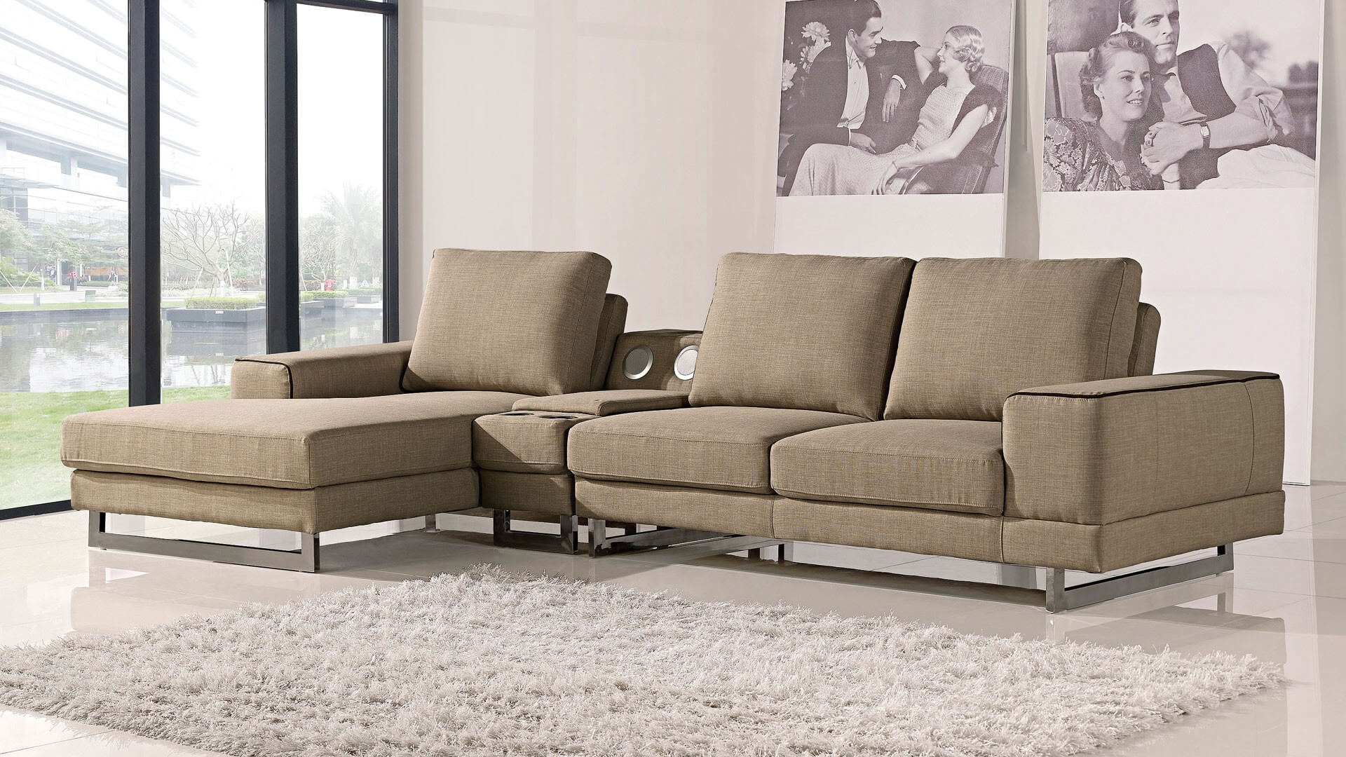 Awesome Adele Sectional Sofa Left Arm Chaise Facing Ncnpc Chair Design For Home Ncnpcorg