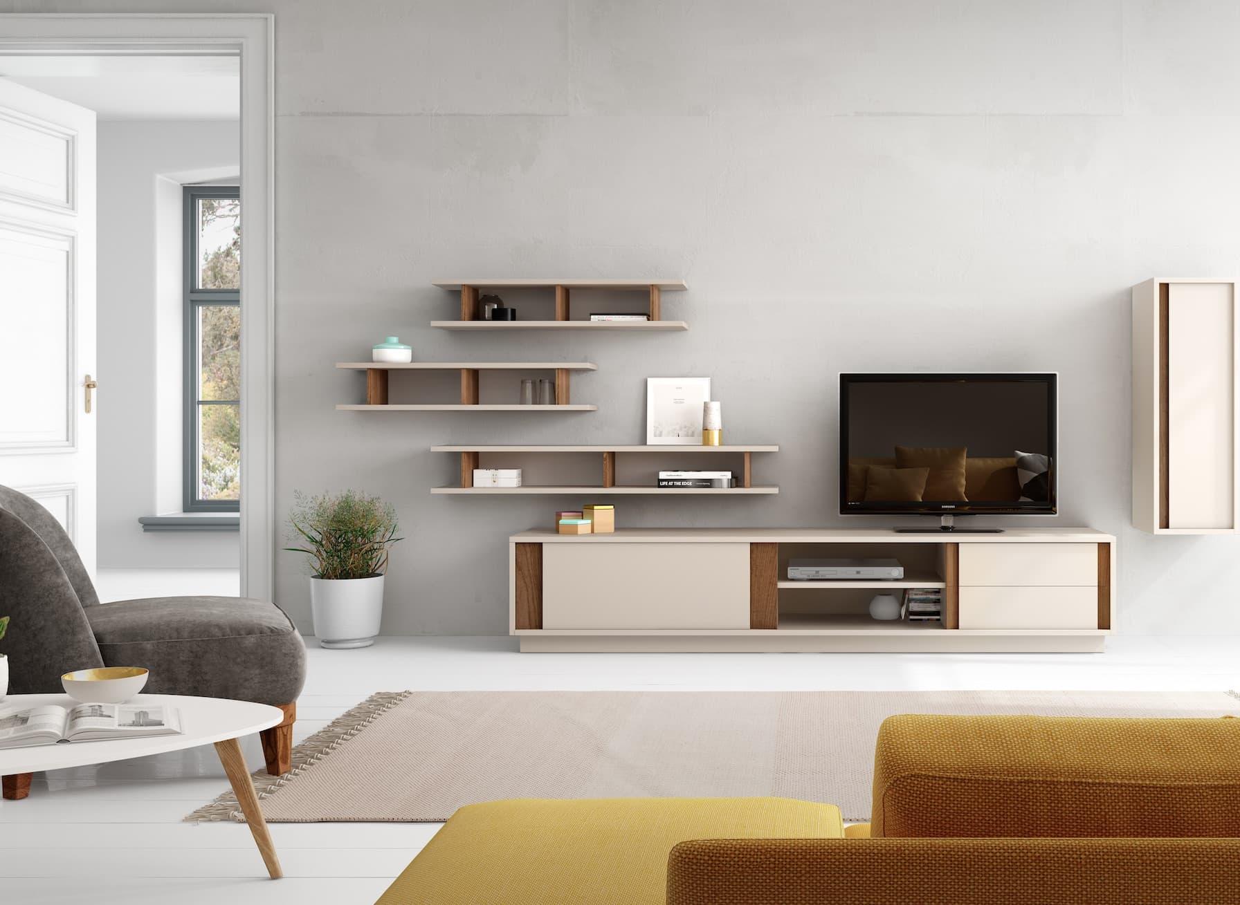 Meuble Tv Living Salon tv220-zo 2-piece entertainment set, sand