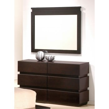 Knotch Dresser + Mirror by J&M Furniture
