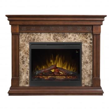"Alcott Mantel Electric Fireplace, Mocha Finish,  26"" Log Set Firebox"