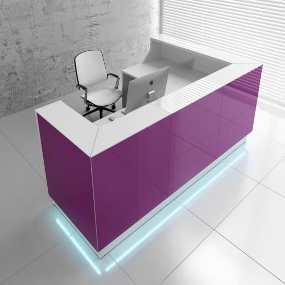 Linea LIN39L Reception Desk, Fuchsia photo