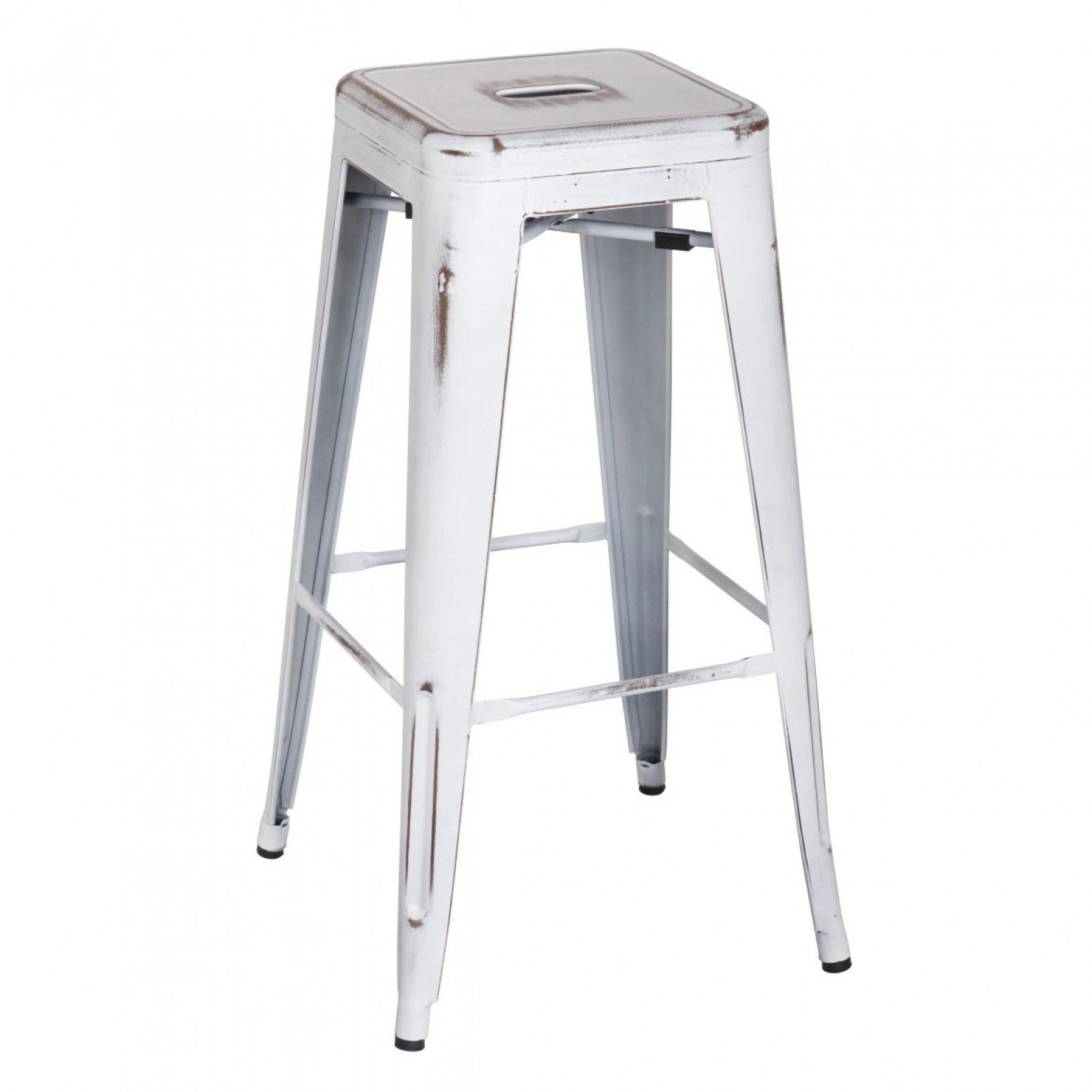 Strange Metropolis Metal Backless Bar Stool Distressed White Andrewgaddart Wooden Chair Designs For Living Room Andrewgaddartcom