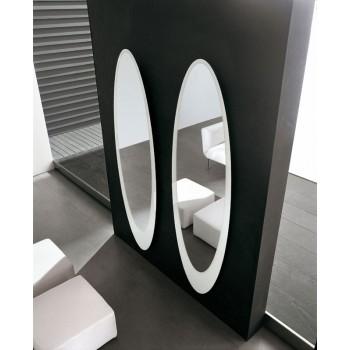 Olmi Silver Mirror, White