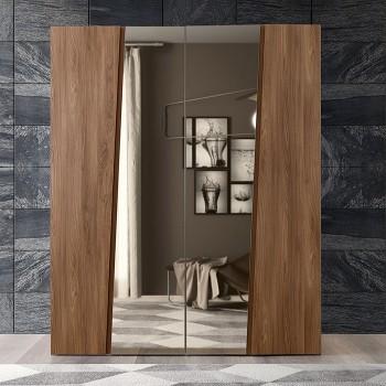 Akademy 4-Door Wardrobe w/Mirror