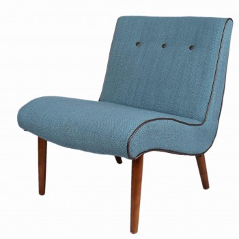 Alexis Fabric Chair, Amber Legs, Aegean by NPD (New Pacific Direct)