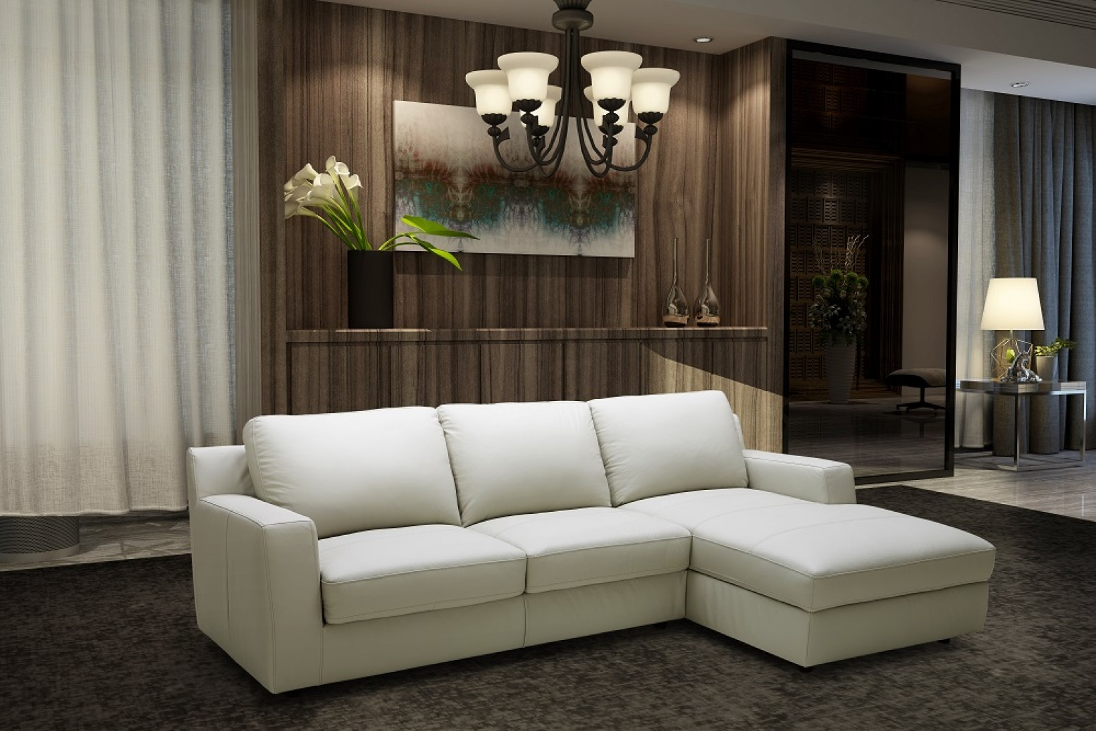 Lauren Sectional, Right Arm Chaise Facing by J&M Furniture