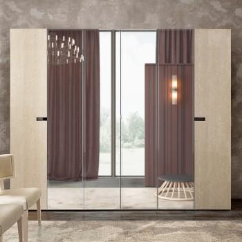 Ambra 6-Door Wardrobe w/Mirror