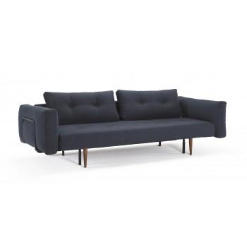 Recast Plus Sofa Bed w/Arms, 515 Nist Blue Fabric