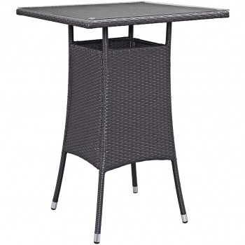 Convene Small Outdoor Patio Bar Table, Espresso by Modway