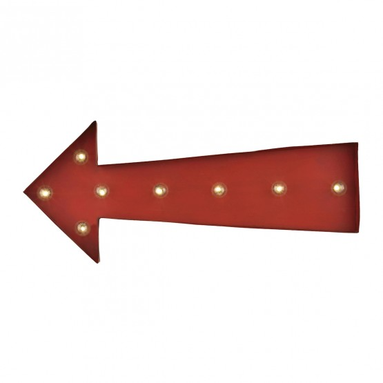 Arrow Marquee Sign In Antique Red photo