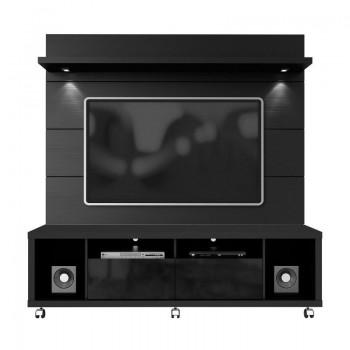 "Cabrini 71"" TV Stand & Panel, Black"