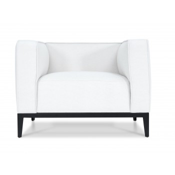 California Armcahir, Black Base, White Fabric by SohoConcept Furniture