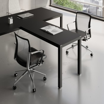 Impuls Desk Extension IM07, All Black