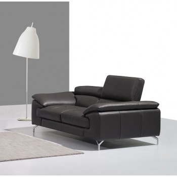 A973 Italian Leather Loveseat, Grey by J&M Furniture