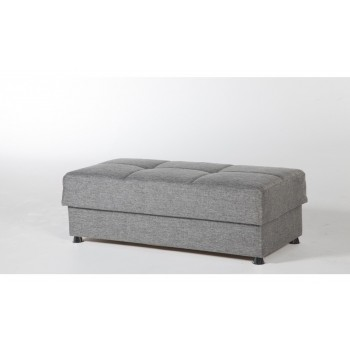 Vision Ottoman, Diego Gray by Sunset International Trade