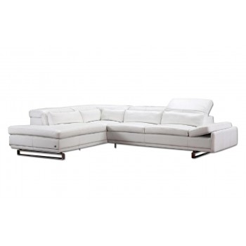 Cliff Sectional, Left Arm Chaise Facing, White