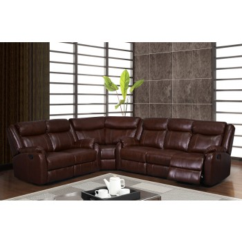 U9303С Sectional, Brown by Global Furniture USA