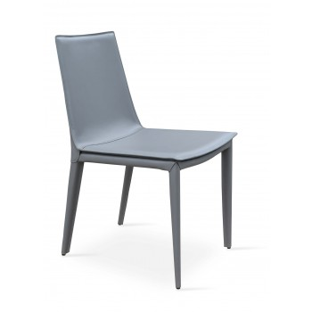 Tiffany Dining Chair, Grey Bonded Leather by SohoConcept Furniture
