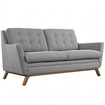 Beguile Fabric Loveseat, Expectation Gray by Modway