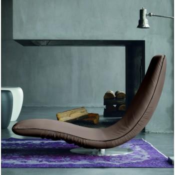 Ricciolo Chaise Lounge, Mud Eco-Leather