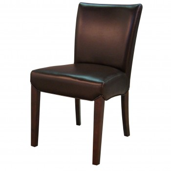 Beverly Hills Bonded Leather Chair, Coffee Bean, Set of 2 by NPD (New Pacific Direct)