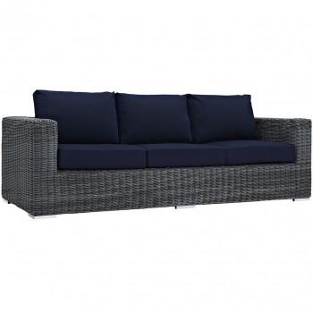 Summon Outdoor Patio Sunbrella® Sofa, Canvas Navy by Modway