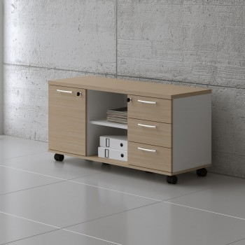 Managerial Storage A120MP, White + Beech