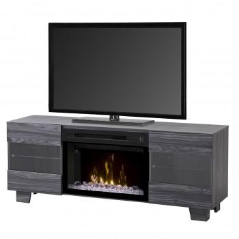 "Max Media Console, Carbon Finish, Acrylic Ice 25"" Firebox"