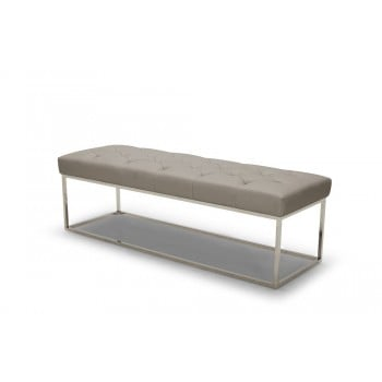 Chelsea Lux Bench, Grey