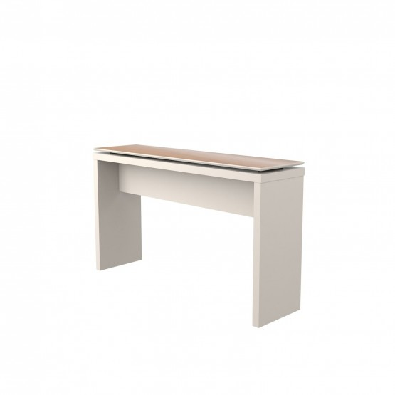 Lincoln Console Table, Off White + Maple Cream photo