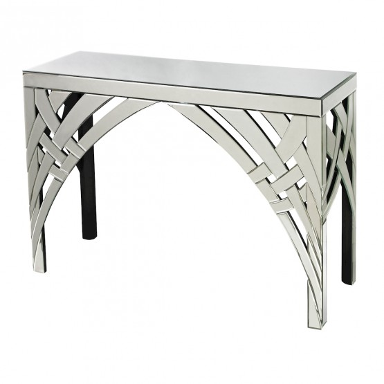 Arched Ribbons Mirrored Console photo