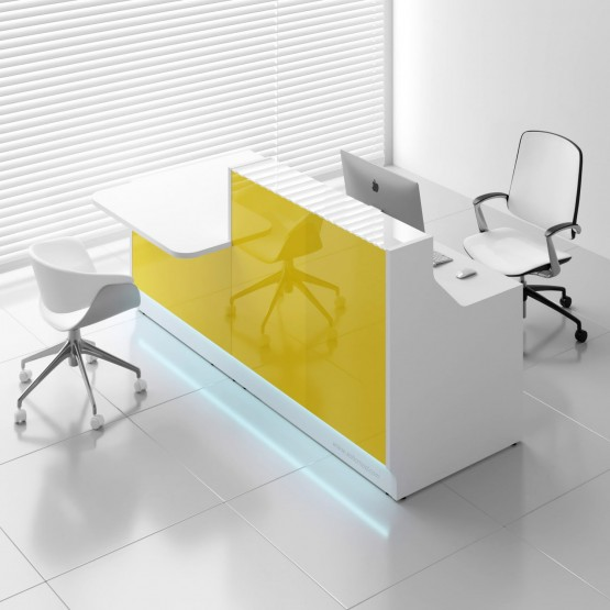 Linea LIN34P Reception Desk, Yellow photo
