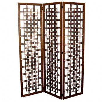 Enola Screen w/3 Panels, Brown by NPD (New Pacific Direct)