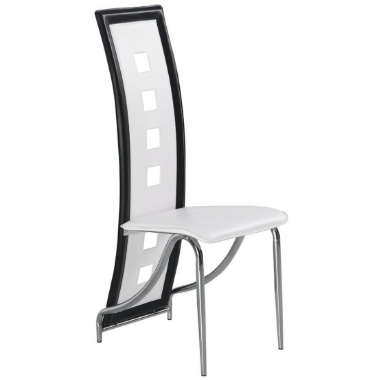 D803-WH Dining Chair, White photo