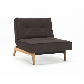 Splitback Eik Chair, 503 Begum Brown Fabric
