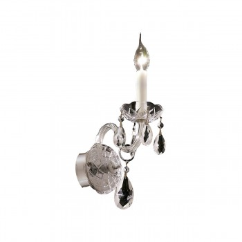 "Alexandria 1-Light 4"" Chrome Wall Sconce in Swarovski Strass"