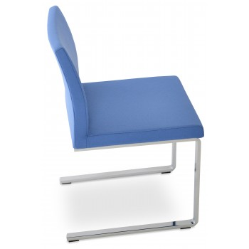 Aria Flat Dininng Chair, Sky Blue Camira Wool by SohoConcept Furniture