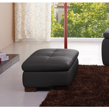 625 Italian Leather Ottoman, Grey by J&M Furniture