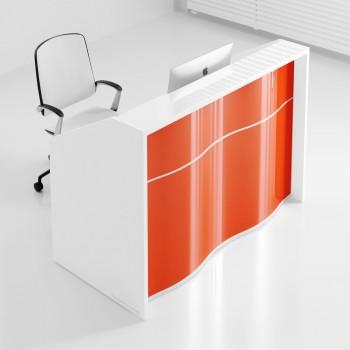 Wave LUV14 Reception Desk, High Gloss Orange