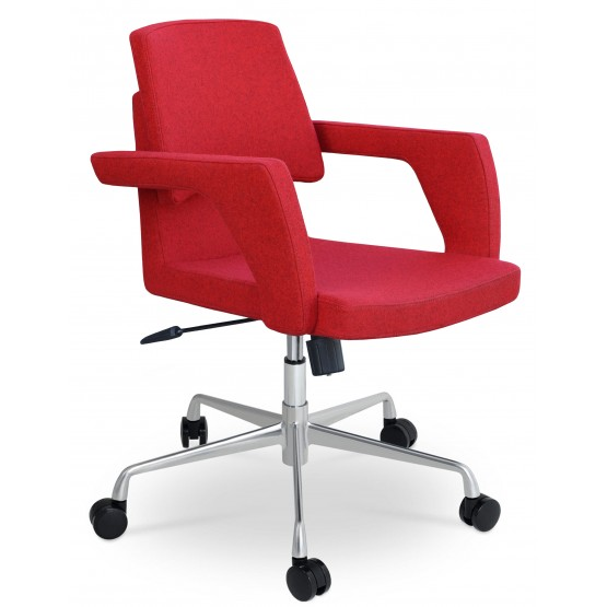 Adam Office Chair, Base A3, Red Camira Wool photo