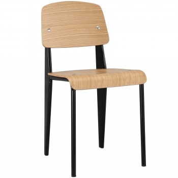 Cabin Dining Side Chair, Natural, Black by Modway