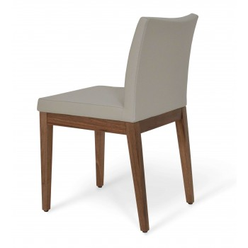 Aria Wood Dininng Chair, American Walnut Wood, Bone PPM by SohoConcept Furniture