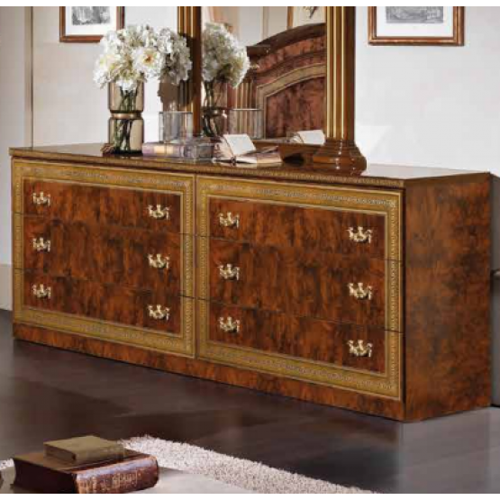 Alexandra Double Dresser, Walnut photo