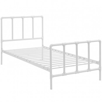 Dower Twin Bed, White by Modway