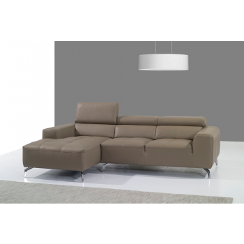 A978B Italian Leather Sectional, Left Arm Chaise Facing, Burlywood by J&M Furniture