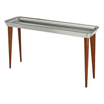 Rushbrook Mid-Century Mirrored Console Table