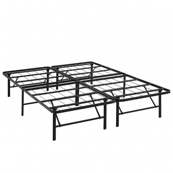 Horizon Queen Stainless Steel Bed Frame, Brown by Modway